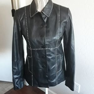 David Meister Leather Jacket